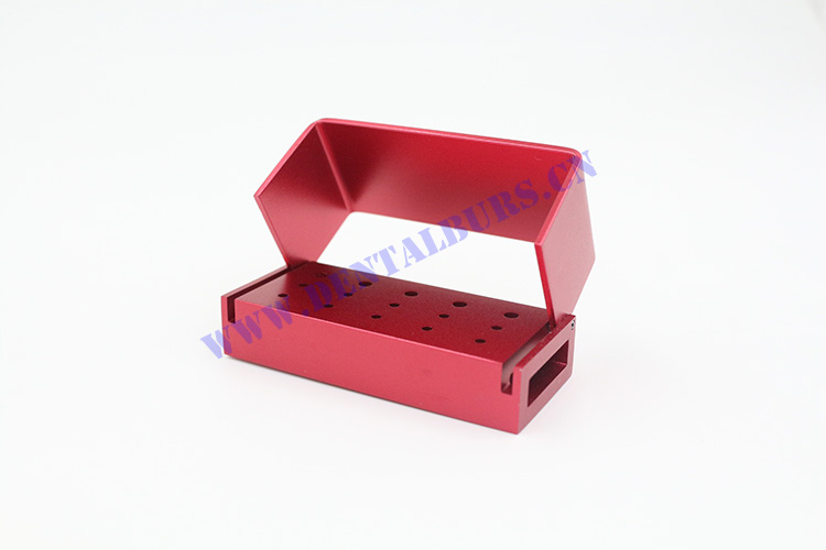 Burs Box with 15 Holes(Red)